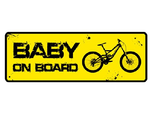 Loss Textildruck MTB Sticker Baby on Board Mountain Bike & Downhill Aufkleber
