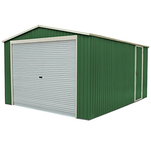 Box Casetta Garage in lamiera zincata giardino esterno 350x574xh245cm GARAGEPLUS