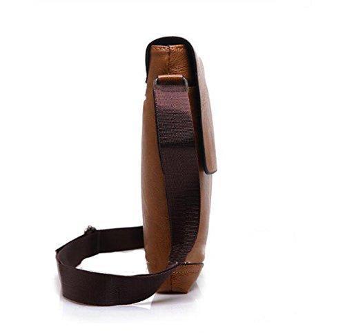 Mann-Schulter-Beutel-Kurier-Beutel-im Freienschulter-beiläufiger Sport-einfacher Spielraum-Beutel Brown