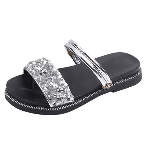 Dtuta Kinderschuhe MäDchen Schuhe Sommer Strass Zwei Tragende Prinzessin Schuhe Sandalen Pantoffeln RöMische Schuhe Offene Zehen Mode Weich Und Bequem