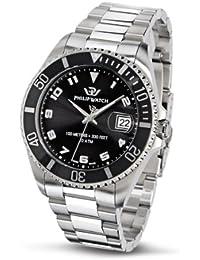 Philip Watch R8253107115 - Reloj de caballero de cuarzo, correa de acero inoxidable color plata
