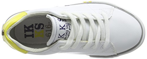 IKKS William Jungen Sneaker Weiß - Blanc (18 Vte Blanc/Jaune Dpf/Vulca)