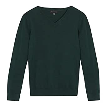 Debenhams Kids Green Unisex Vneck School Uniform Jumper Age 13-14