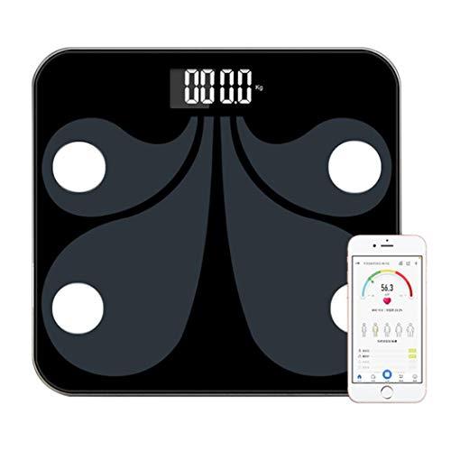 DPPAN Smart Bluetooth Bilancia Impedenziometrica, App Bilancia Pesapersone Persona Digitale Elettronica 180 kg,Black