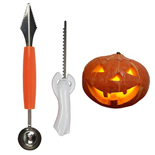 Joyibay 2 StÜcke Kürbis Carving Kit Kreative Mehrzweck DIY Sculpting Tool für Halloween