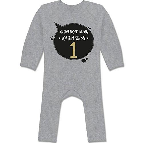 Shirtracer Geburtstag Baby - Ich Bin Nicht klein, ich Bin Schon 1-12/18 Monate - Grau meliert - BZ13 - Baby-Body Langarm für Jungen und Mädchen