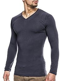 Leif Nelson Herren Longsleeve V-Neck Sweatshirt T-Shirt Shirt Hoodie
