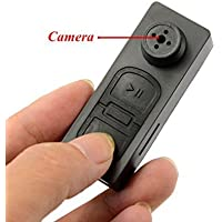 Krazzy Collection HD Audio and Video CCTV Cam Covert Spy Miniature Button Hidden Camera with SD Card Slot - Up To 32GB