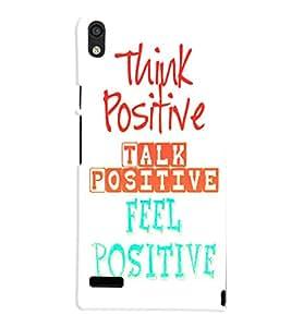 Fuson 3D Printed Quotes Designer back case cover for Huawei Ascend P6 - D4532