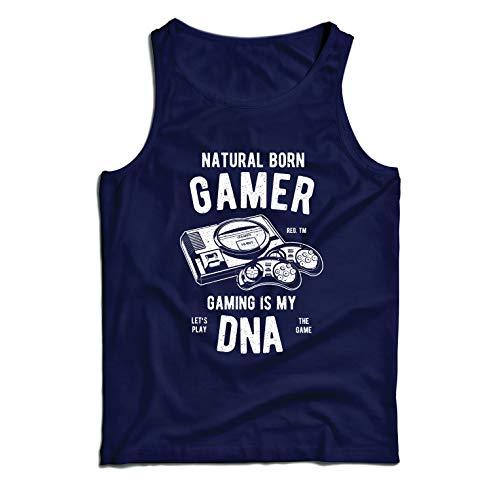 Kostüm Kerl Nerd - lepni.me Weste geborener Spieler, das Spielen ist Meine DNA, Lass Uns das Spiel Spielen (Large Blau Mehrfarben)
