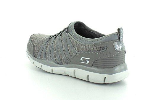 Skechers Damen GratisShake-It-Off Sneakers Grau (Grey)