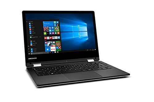 "Medion MD 60686 - Ordenador portátil convertible de 11.6"" HD (Intel Atom x5-Z8350, RAM de 4 GB, 64 GB almacenamiento, Intel HD Graphics, Windows 10) blanco - teclado QWERTY Español"