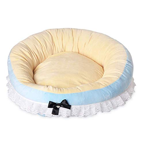 COBIY Haustier Hund Katze Bett Warming Dog House Weiches Material Berber Fleece Pet Nest Runde Winter Warm Dog Nest Kennel,Blue -