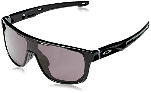 Oakley Herren Crossrange Shield 938701 31 Sonnenbrille, Schwarz (Polished Black/Warm Grey),