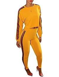 Ensemble Survêtement Femme - Sweat-Shirt + Pantalon Joggers Sports Suits - Highdas