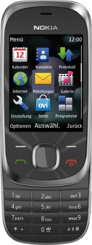 Nokia Nokia 7230 Handy (3.2 MP, Musikplayer, Bluetooth, Flugmodus, 2GB Speicherkarte, Slider) Graphite