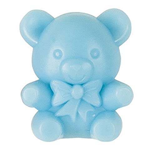 Plastic Blue Teddy Bear Baby Shower Favours, Pack of 16