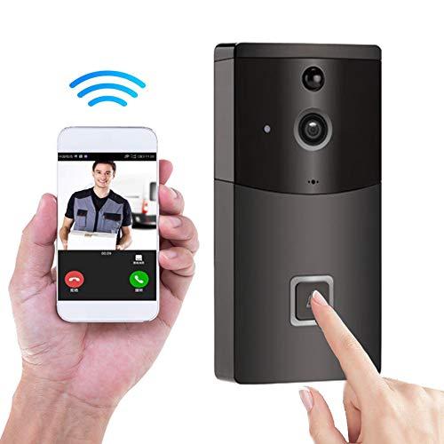 Care-eye Timbre inalámbrico, 720P HD Timbre WiFi Inteligente, Conversación bidireccional en Tiempo Real y Video, Visión Nocturna, Ángulo de visión de 166 °, Hogar Sistema de Seguridad para Smartphone