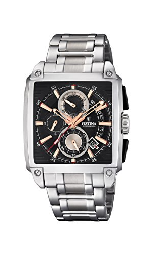 Festina Mens Chronograph Quartz Watch with Stainless Steel Strap F20264/4