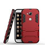 HHuawei G7 Plus Hülle,Huawei G8 Hülle, MHHQ Hybrid 2in1 TPU+PC Schutzhülle Rugged Armor Case Cover Dual Layer Bumper Backcover mit Ständer für Huawei G7 Plus / G8 / GX8 -Red