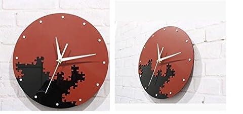 Sucastle Creative wall Clock, three-dimensional wall clock, jigsaw clock, mosaic wall clock 30*30CM