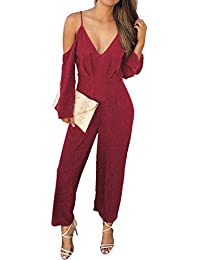 LRUD Sexy Damen Bodycon Lange Overall Ärmellos Abend Party Hohe Taille  Strampler Playsuit Jumpsuit 07973c8c44