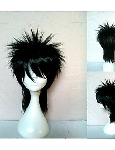 Perruque & WIGSTYLE Perruques Fashion dessin animé de cosplay perruque synthétique cheveux naturels noirs ondulés animée perruques fille de nouvelle élégant homme