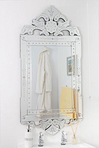 Mirroroutlet lunghezza intera, stile classico in oro, con angoli smussati