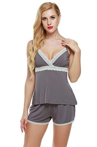 Ekouaer Pijama de Tirantes para Mujer Ropa de Dormir 2 Pieza
