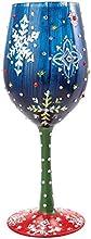 Enesco Lolita Vaso de Vino Noche Nieve, cristal, multicolor, 12x 19x 22,5cm