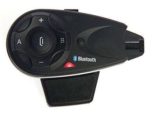 Zazzamilo BTiM V5 SINGOLO Interfono Moto Bluetooth con Radio FM Connessione Universale e Ascolto GPS Mp3, per Tutti I Caschi