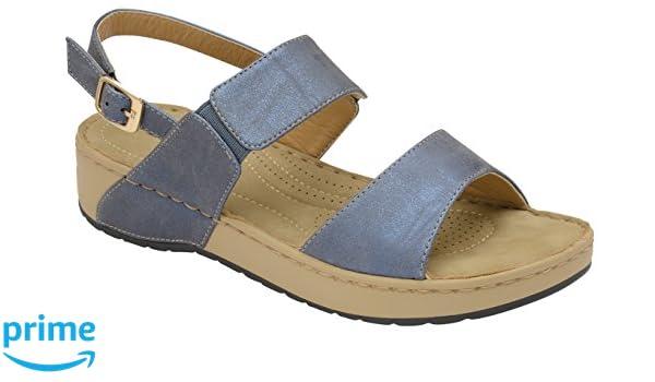 Dunlop Damen Slingback, Blau - Blau - Größe: 38 EU