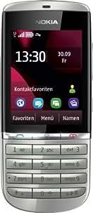 Nokia Asha 300 Handy (6,1 cm (2,4 Zoll) Touchscreen, 5 Megapixel Kamera) silber weiß