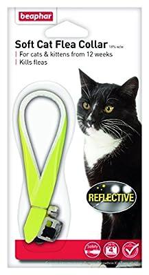 Beaphar Cat Flea Reflective Collar, Pack of 2, Yellow by Beaphar