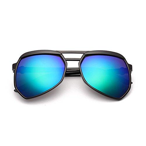 Sonnenbrillen Retro Polarisiert Männerspiegel Uv400 Schützt Fahrspaß Im Freien, Damen Fahren Fahrer-spiegel Black Frame Green Film (Taschenklau)