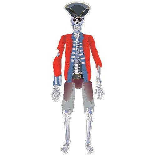 Wanddeko Skelett Pirat Paul 140 cm