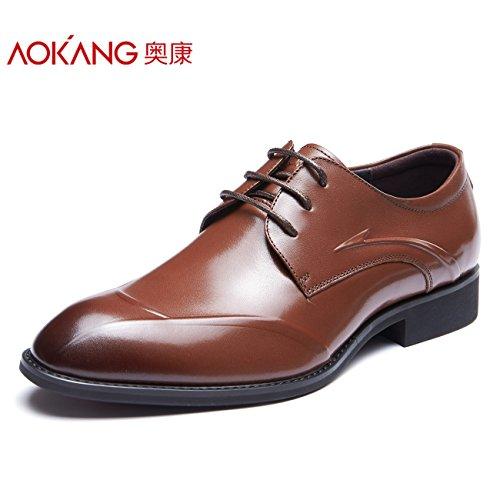 aemember im Herbst Herren Schuhe Kleid und Herren Business Tipps Büro tragen bequeme Schuhe, 40, braun (Bubble Kleid Schuhe)