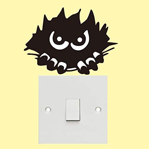 Scary Monster Peeking Halloween Party Aufkleber Moderne Wandaufkleber Für Kindergarten Schlafzimmer Wandkunst wasserdichte Tapete Hause 21 * 15 cm (Halloween-spiele Scary Auf Partys Spielen Zu)