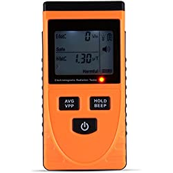 XCSOURCE® Digital LCD detector de radiación electromagnética Dosímetro Electromagnético Tester magnético Gauss EMF medidor 1-1999V / m, 0.01-19.99uT TE637