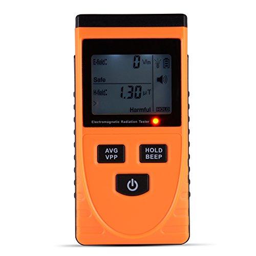 XCSOURCE® Digital LCD Elektromagnetische Strahlung Detektor Dosimeter Elektrische Magnetische Tester Gauss EMF Meter 1-1999V / m, 0.01-19.99uT TE637