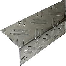 bronze hell * Rutschhemmend * Robust * Leichte Montage Selbstklebende Treppenkante acerto 51138 Aluminium Treppenwinkel-Profil 170cm Treppenkanten-Profil Treppenstufen-Profil aus Alu 32x30mm