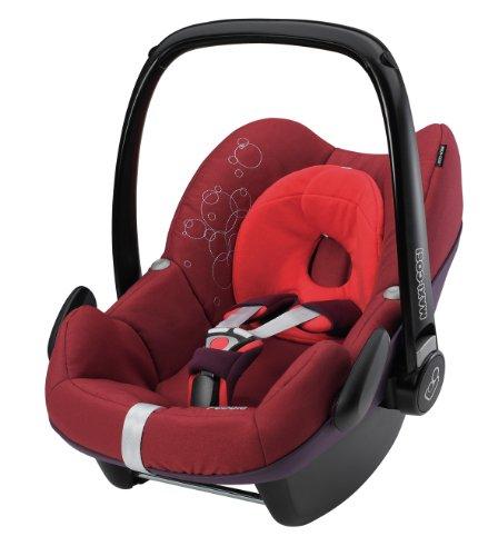 Preisvergleich Produktbild Maxi-Cosi 63002861 - PEBBLE RUBY RED Kinderautositz Gruppe 0+ (bis 13 kg), ab der Geburt bis ca. 12 Monate, Family Fix Konzept