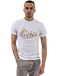 883 Police Gris de Marga de Camiseta Básica s/s