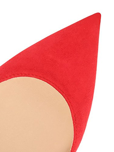 Guoar - Scarpe chiuse Donna (Rot Samt)
