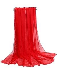 085eecf2adae30 OUYE Scialle Donna Semplice Elegante Chiffon Sciarpa Grande Pashmina