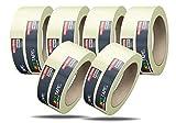 5x Malerkrepp Kreppband Klebeband Feinkreppband Abklebeband Painty Tape 50 Meter * 38 mm für präzises Streichen & Malerarbeiten