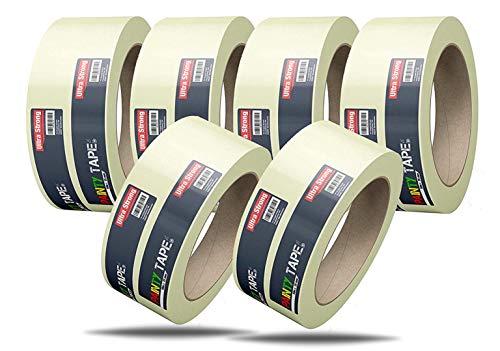 5x Malerkrepp 50 m * 38 mm / 250 Meter - Kreppband Klebeband Abklebeband Painty Tape für einfaches Streichen & Malerarbeiten