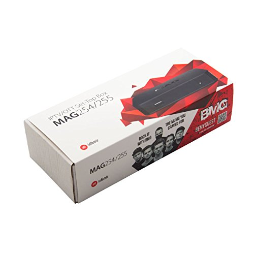 Infomir MAG 254 IPTV Multimedia Streamer HDMI USB FullHD 3D Größe HDMI Kabel + 150Mbit Wlan Stick