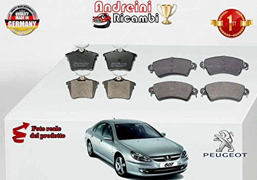 KIT 8 PASTIGLIE FRENO ANTERIORI+POST 807 2.0 16V 103KW DAL 2005