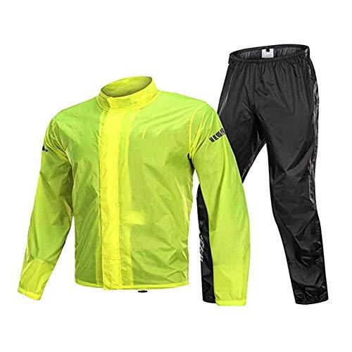 Gjrff Raincoat (Raincoat Regen Hosenanzug) REIT Motorrad Regenmantel Split Erwachsenen atmungsRegenMantel + Hosen wasserdicht Männer und Frauen Poncho Anzug (Size : XL)